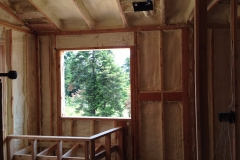 Residential home with spray foam insulation