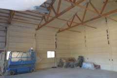 pole building with spray foam insulation