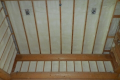 Ceiling with spray foam insulation