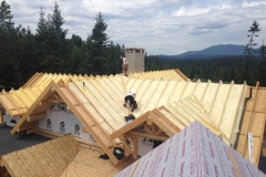 Residential spray foam insulation project