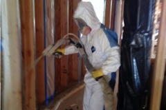 Spray foam application process