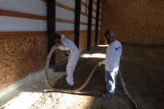 Creating spray foam insulation barrier