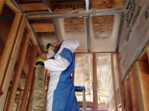 NW Spray foam insulation technician